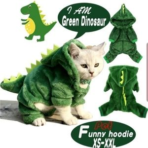 NIP! Medium Dog Cat Costume Dinosaur Dragon